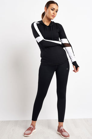 ALALA Rally Hoodie - Black/White image 4 - The Sports Edit