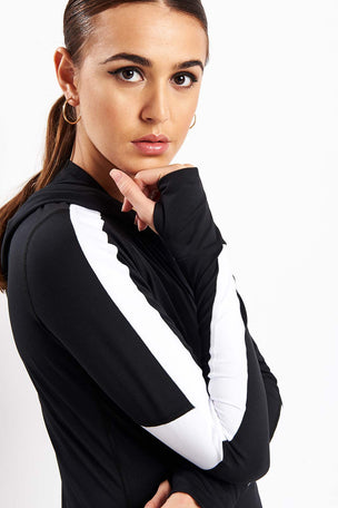 ALALA Rally Hoodie - Black/White image 3 - The Sports Edit