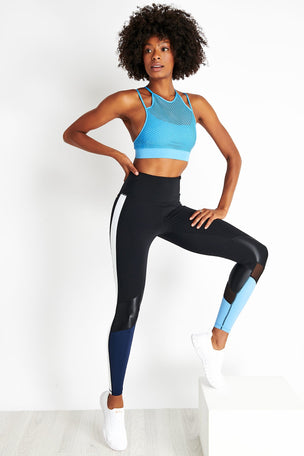 Alala Seamless Layer Bra - Azure image 2 - The Sports Edit