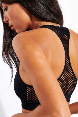 Alala Essential Seamless Bra - Black image 4 - The Sports Edit