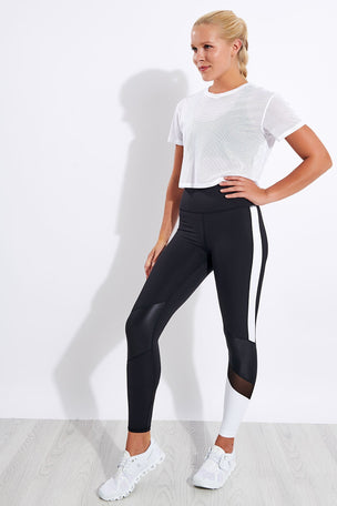 Alala Tie Back Crop Tee - White image 3 - The Sports Edit