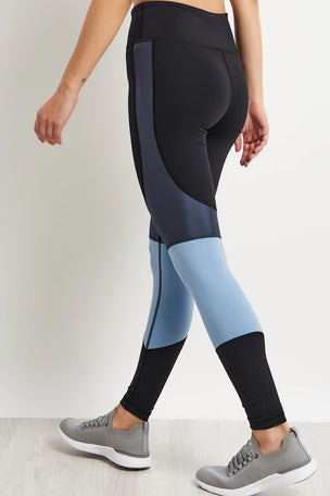 Alala Vamp Tights - Ice Blue/Black image 2 - The Sports Edit