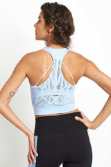 Alo Yoga Vixen Fitted Crop Tank - UV Blue image 2 - The Sports Edit