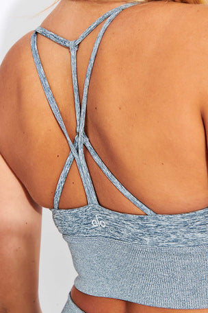 Alo Yoga Alosoft Lavish Bra - Blue Haze Heather image 4 - The Sports Edit