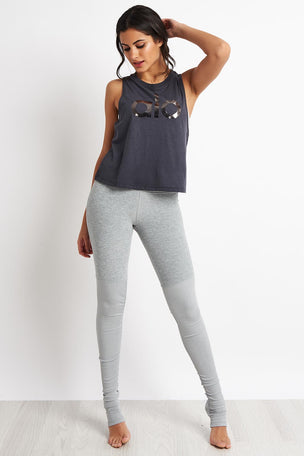 Alo Yoga Alo Signature Tank - Anthracite image 4 - The Sports Edit