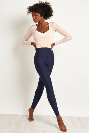 Alo Yoga Amelia Long Sleeve Crop - Nectar image 4 - The Sports Edit