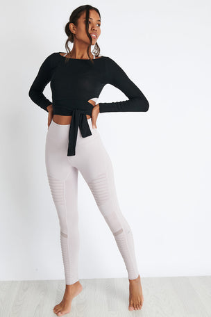 Alo Yoga Barre Long Sleeve - Black image 3 - The Sports Edit