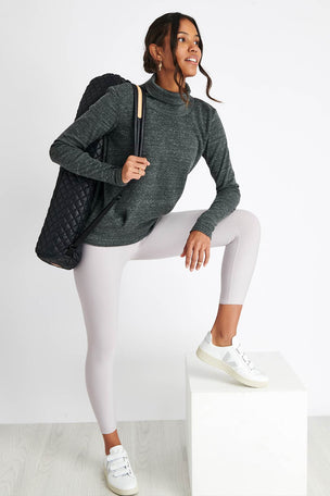 Alo Yoga Clarity Long Sleeve - Anthracite Heather image 4 - The Sports Edit