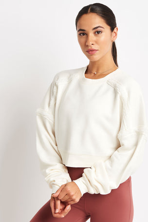 Alo Yoga City Long Sleeve Top - Pristine image 1 - The Sports Edit