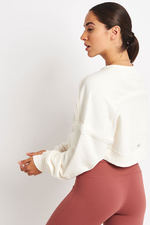 Alo Yoga City Long Sleeve Top - Pristine image 2 - The Sports Edit
