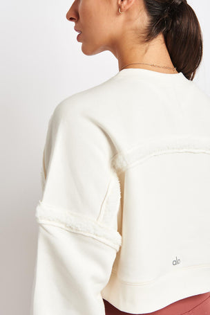 Alo Yoga City Long Sleeve Top - Pristine image 3 - The Sports Edit