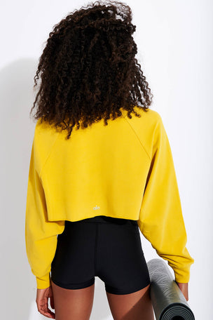 Alo Yoga Double Take Pullover - Sulphur image 3 - The Sports Edit