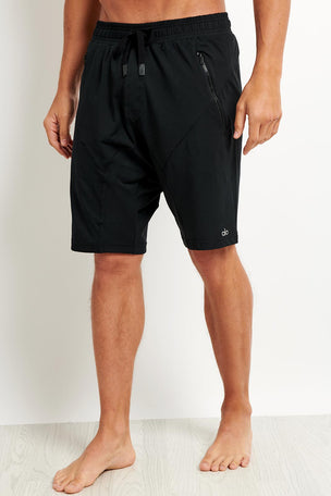 Alo Yoga Drop Crotch Short - Black image 1 - The Sports Edit