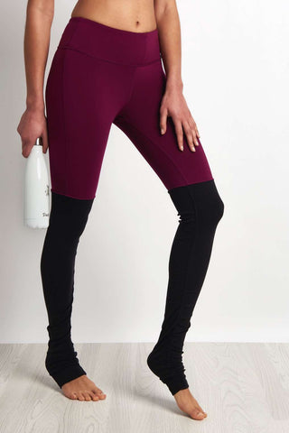 Alo Yoga Goddess Legging Juneberry/Black image 1 - The Sports Edit