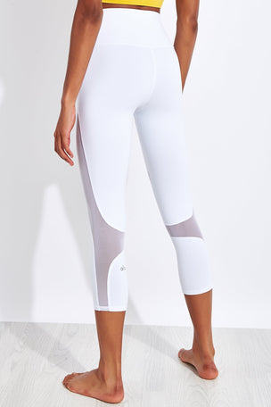 Alo Yoga High Waisted Coast Capri - White image 3 - The Sports Edit