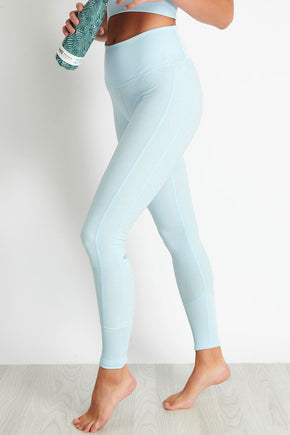 624960ed65084 Alo Yoga High-Waist Lounge Legging - Powder Blue image 1 - The Sports Edit