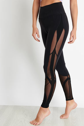 550f10cf0463b5 Alo Yoga High-Waist Mosaic Legging - Black image 1 - The Sports Edit