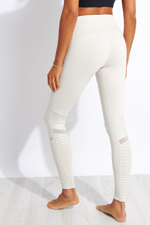 Alo Yoga High Waisted Moto Legging - Bone image 2 - The Sports Edit