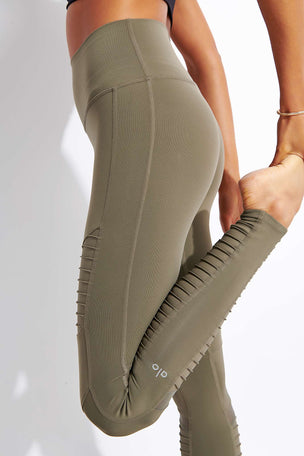 Alo Yoga High Waisted Moto Legging - Olive Branch image 4 - The Sports Edit