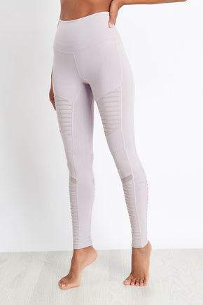 571433ad8e451f Alo Yoga High-Waist Moto Legging - Lavender Glossy image 1 - The Sports Edit