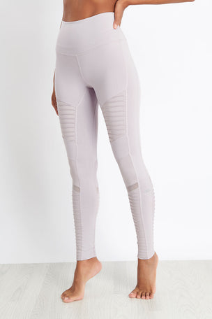 Alo Yoga High-Waist Moto Legging - Lavender Glossy image 3 - The Sports Edit
