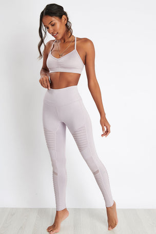 Alo Yoga High-Waist Moto Legging - Lavender Glossy image 4 - The Sports Edit