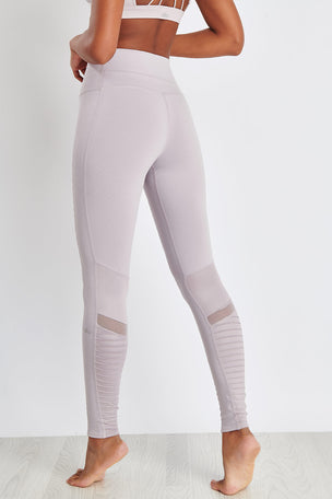 Alo Yoga High-Waist Moto Legging - Lavender Glossy image 2 - The Sports Edit
