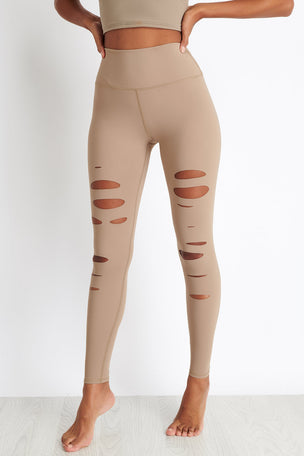 Alo Yoga High-Waist Ripped Warrior Legging - Gravel image 5 - The Sports Edit