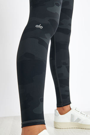 Alo Yoga High-Waist Vapor Legging - Black Camo image 3 - The Sports Edit