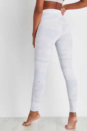 Alo Yoga High-Waist Vapor Legging - White Camo image 3 - The Sports Edit