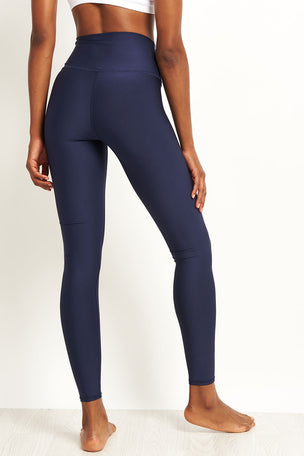 Alo Yoga High Waisted Airlift Legging - Rich Navy image 2 - The Sports Edit