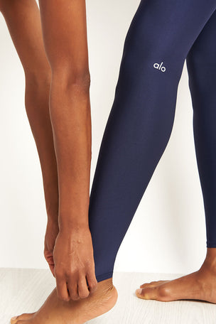 Alo Yoga High Waisted Airlift Legging - Rich Navy image 3 - The Sports Edit