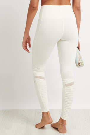 Alo Yoga High Waist Moto Legging - Pristine Glossy image 2 - The Sports Edit