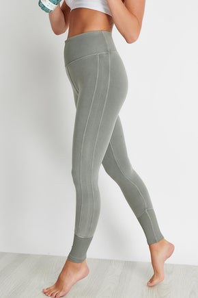 30ccd3163cf68 Alo Yoga High-Waist Alo Sueded Lounge Legging - Lead Wash image 1 - The
