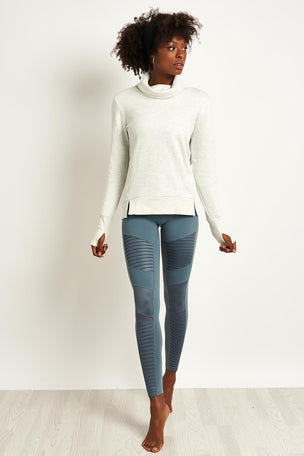 Alo Yoga Haze Long Sleeve Top - White/ Heather image 4 - The Sports Edit
