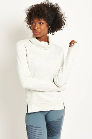 Alo Yoga Haze Long Sleeve Top - White/ Heather image 5 - The Sports Edit