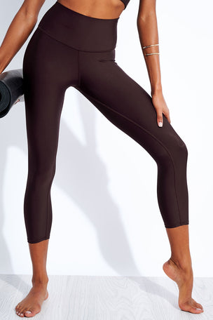Alo Yoga High Waisted Airlift Capri - Oxblood image 1 - The Sports Edit