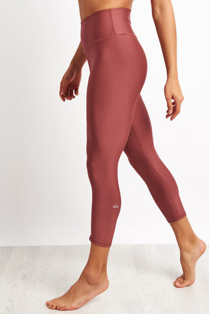 Alo Yoga High-waist Airlift Capri - Rosewood image 1 - The Sports Edit