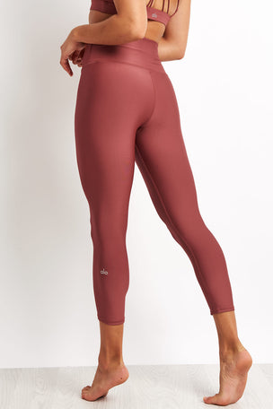 Alo Yoga High-waist Airlift Capri - Rosewood image 2 - The Sports Edit