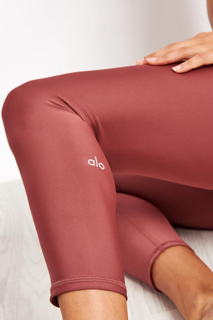 Alo Yoga High-waist Airlift Capri - Rosewood image 3 - The Sports Edit