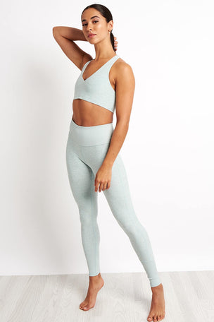 Alo Yoga High-waist Lounge Legging - Cloud Heather image 4 - The Sports Edit