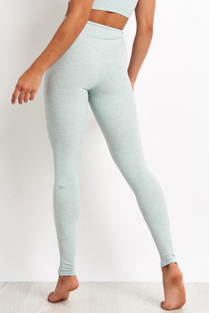 Alo Yoga High-waist Lounge Legging - Cloud Heather image 2 - The Sports Edit