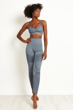 Alo Yoga High Waist Moto Leggings - Concrete image 4 - The Sports Edit