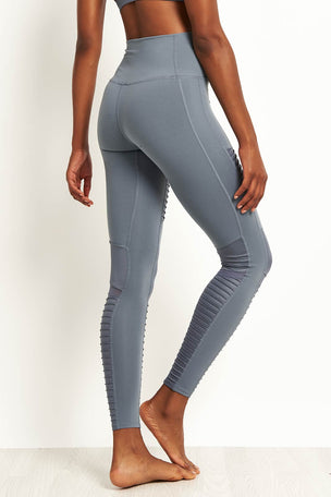 Alo Yoga High Waist Moto Leggings - Concrete image 2 - The Sports Edit