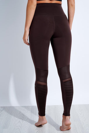 Alo Yoga High Waisted Moto Legging - Oxblood image 3 - The Sports Edit