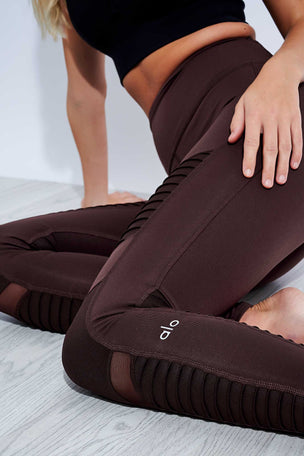 Alo Yoga High Waisted Moto Legging - Oxblood image 4 - The Sports Edit