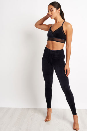 Alo Yoga High Waist Posh Legging - Black image 4 - The Sports Edit