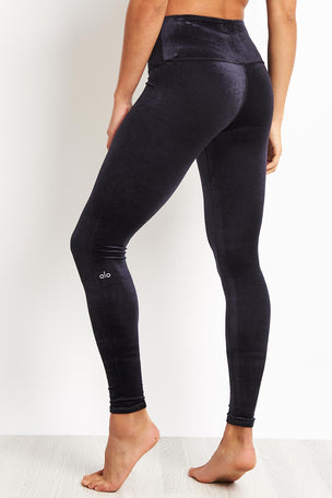 Alo Yoga High Waist Posh Legging - Black image 1 - The Sports Edit