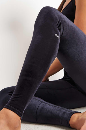 Alo Yoga High Waist Posh Legging - Black image 3 - The Sports Edit