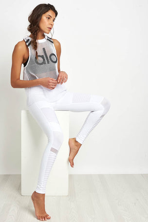 Alo Yoga Yoga Jersey Tank - White image 4 - The Sports Edit